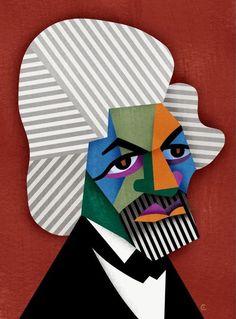 davidcowlesillustrations:    Happy Birthday and Happy Black History Month #14: Frederick Douglas