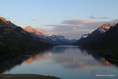 Waterton Lake viewed from the Prince of Wales Hotel