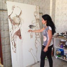 mona nahleh work in progress... in my studio