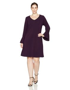e74a684dd392c Karen Kane Women s Plus Size Flare Sleeve Taylor Dress  Amazon  Fashion   Style