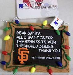 sf giants diy christmas ornaments | San Francisco Giants MLB Baseball Christmas Tree Ornament Resin ...
