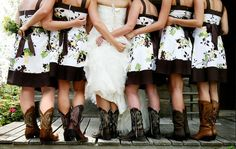 Me and My Bridesmaids in Cowboy Boots