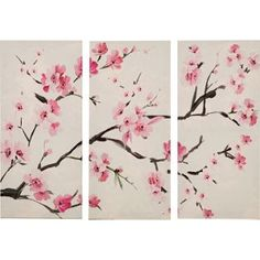 Heart of House Sakura Blossom Triptych Canvas