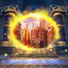 Hearthstone's Silvermoon Portal is a Spell from the One Night in Karazhan expansion. Warcraft Funny, Hearthstone Game, Portal Art, Fantasy Art Landscapes, Epic Photos, Fantasy Kunst, Ancient Architecture, Gothic Architecture, Wow Art