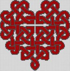 Heart Knot Perler Bead Pattern