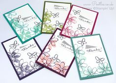 Stampin' Up! UK Demonstrator Pootles - July Thank You Cards So as a follow up to yesterday's post where I showed you the gifts I made to send out to all my shoppers, today I have the card that goe...