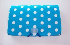 Coupon Organizer   Holder  Keeper    white polka dots on by Laa766