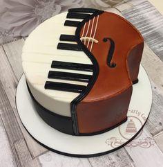 Piano & Cello Kuchen - Kuchen von Mirtha P-Arty Cakes - Kuchen Music Birthday Cakes, Music Themed Cakes, Music Cakes, Amazing Birthday Cakes, Birthday Cake Designs, Happy Birthday Music, Pretty Cakes, Cute Cakes, Beautiful Cakes