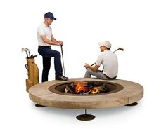 round stone fire pit on legs