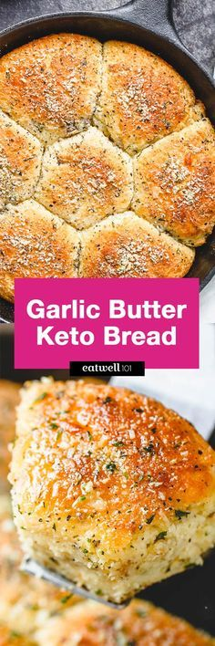 Butter Keto Bread Garlic Butter Keto Bread - Crisp on the outside and moist in the inside, this is the Holy Grail for keto bread!Garlic Butter Keto Bread - Crisp on the outside and moist in the inside, this is the Holy Grail for keto bread! Ketogenic Recipes, Low Carb Recipes, Diet Recipes, Cooking Recipes, Healthy Recipes, Recipies, Pescatarian Recipes, Recipes Dinner, Delicious Recipes