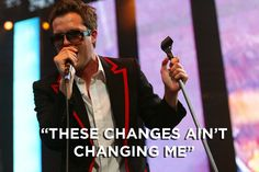 """Brandon Flowers' favorite line from the album is """"these changes ain't changing me"""" from """"All These Things That I've Done."""" 