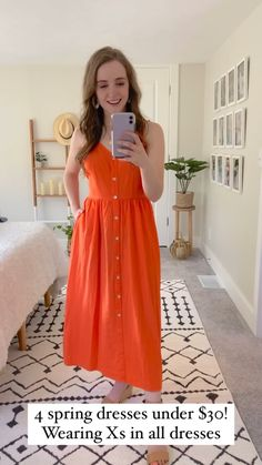2020 Fashion Trends, Fashion Bloggers, Modest Work Outfits, Petite Fashion Tips, Jean Top, Love Her Style, Orange Dress, Fashion Sewing, Pattern Making