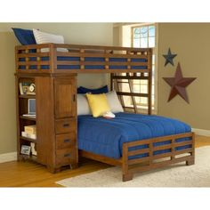 American Woodcrafters Heartland Student Loft Bed - Bunk Beds & Loft Beds at Hayneedle