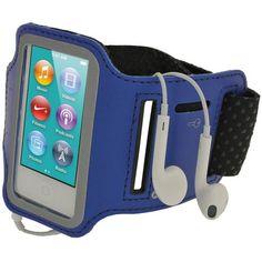 From 7.49:Igadgitz Reflective Anti-slip Neoprene Sports Gym Jogging Armband For Apple Ipod Nano 7 - Blue