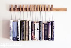 Now THIS is a clever way to organize your reading pile!