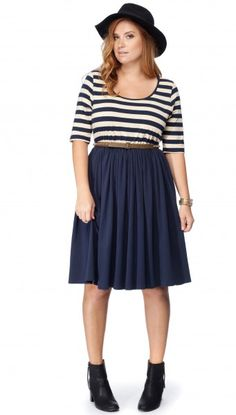 Fit and Flare Dress with 3/4 Sleeves #17sundays