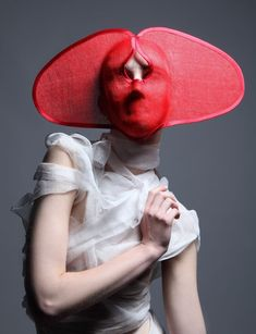 Currently Obsessed With: Face Hats ~ Trend de la Creme - Trends in fashion, style, beauty, design, and popular culture. Mode Pop, Fashion Mask, Inspiration Mode, Mask Design, Contemporary Fashion, Headgear, Headdress, Costume Design, Masquerade