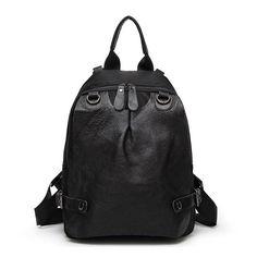Comprar mochilas escolares de cuero negro para niñas bolsas de tendencia de moda [AL93108] - €39.65 : bzbolsos.com, comprar bolsos online