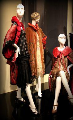 Opulent coats and dresses, 1920's, Phoenix Art Museum