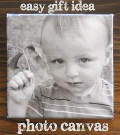 How to make an easy photo canvas - so simple & makes a great gift