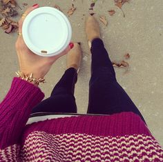 Cozy up to that morning coffee with a side of arm candy.