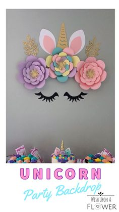 Unicorn Party Backdrop - The Effective Pictures We Offer You About diy A quality picture can tell you many things. Diy Unicorn Birthday Party, Unicorn Birthday Decorations, Girl First Birthday, 1st Birthday Parties, Room Decoration For Birthday, Art Party Decorations, Graduation Decorations, Mermaid Birthday, Party Kulissen