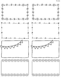 These really cute free printable Doodle Borders for labels are designed by Erin Rippy of InkTreePress. These doodle borders are in fillable and editable PDF templates. Use them as favor labels, shipping labels or even journal notes -:)To print use Worldla Notes Autocollantes, Doodle Borders, Cute Borders, Doodle Patterns, E Craft, Quilt Labels, Label Templates, Banners, Free Printables