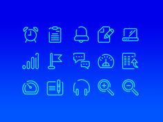 New clean free outline icons for some good UI design. More PSD: 72pxdesigns