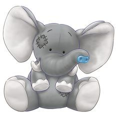 Carte Blanche - My Blue Nose Friends - Ziza the African Elephant Tatty Teddy, Cute Images, Cute Pictures, Baby Pictures, Cute Drawings, Animal Drawings, Image Elephant, Baby Animals, Doodles