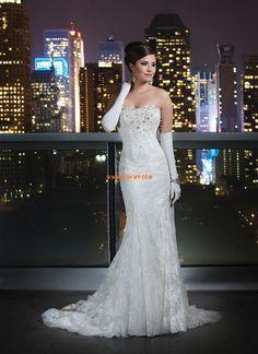 A-linje Vår 2014 Naturlig Lyx Bröllopsklänningar