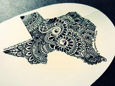 Texas Decal (black on white) #TX #Texas #dontmesswithtexas #lonestar…