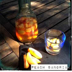 Peach Sangria with Bourbon Rosé and White Wine.