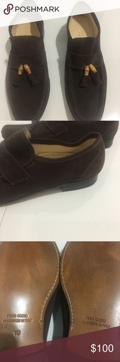 Massimo matteo Bamboo shoes men suede brown italy New authentic massimo Matteo Shoes Oxfords & Derbys
