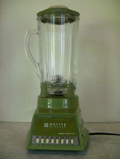 Vintage Waring Century 8 Retro Mid Century Avocado Green Glass 5 Cup Blender  #Waring