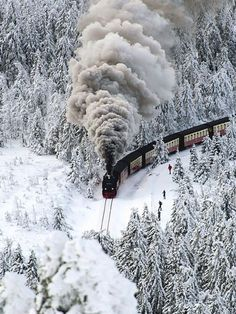 Snow Steam Train, Wernigerode, Germany - Furkl.Com