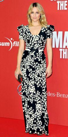Dianna Agron wearing Carolina Herrera