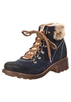 9a4bf4d9aef330 Pier One Lace-up boots - blue - Click Image to Close Worker Boots