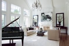 19 Marvelous Ideas How To Decorate Living Room With Piano