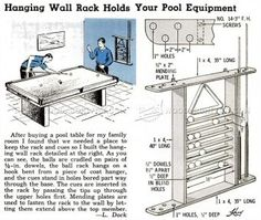 Homemade pool table plans follow these step by step for Cue rack plans