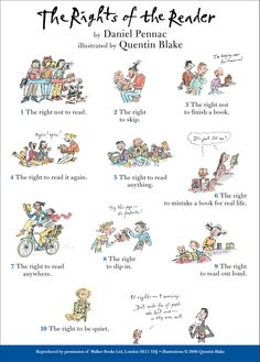 New THE RIGHTS OF THE READER by Daniel Pennac