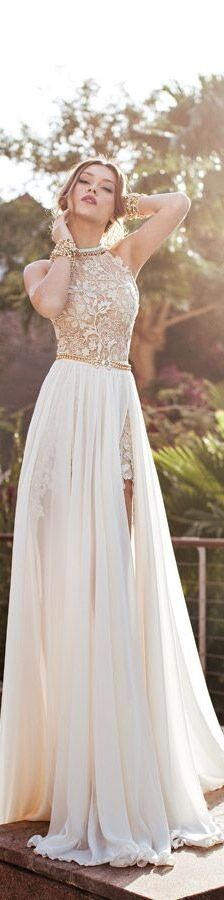 #julie vino bridal eden wedding dress front #Luxury.com via #Wedding Inspirations