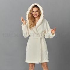 52fdba7254745 Домашний женский халат с капюшоном 🔸 материал: микрофибра, состав: 100%  полиэстер,