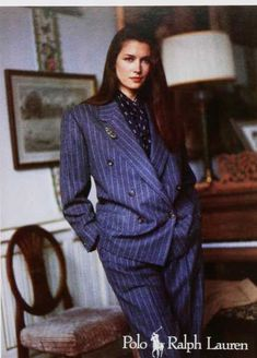 Vintage Gender Advertisement of the 1980s. 1980s: Enter a new kind of woman, who can have it all — be a mother, a professional, and ... wear power suits.