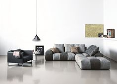 Modular fabric sofa PIXEL | Fabric sofa - Saba Italia