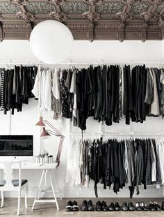 A monochrome wardrobe. Monochrome is the new black! Inspiration for our Monochrome Twist shoot in the June 16 issue.