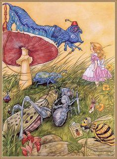 Alice in Wonderland by Angel Dominguez Алиса в стране чудес Энжел Домингес