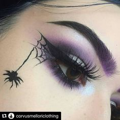 What a fantastic makeup idea for anyone heading out for Halloween!                                                                                                                                                                                 More