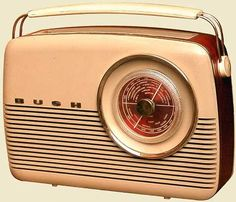 Bush portable Radio c1957- Why don't we ever see brown radios anymore?