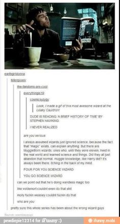 FOUR FOR YOU, SCIENCE WIZARD!