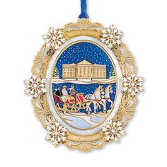 2004 White House Christmas Ornament, A First Family's Sleigh Ride - Ornaments - Christmas | The White House Historical Association